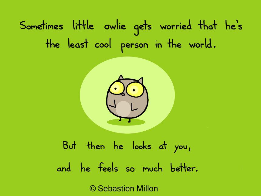 Thankful Owlie - Sebastien Millon / Art & Illustration