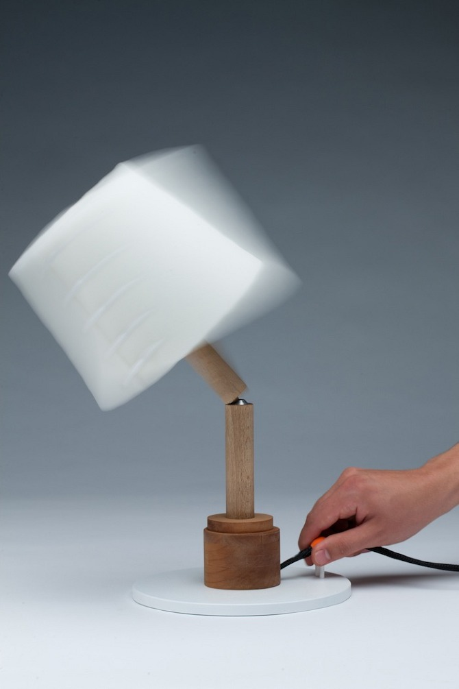 Collapse Lamp by Hayo Gebauer in THISISPAPER MAGAZINE