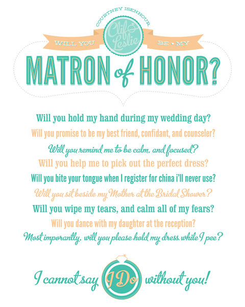 Matron Of Honor
